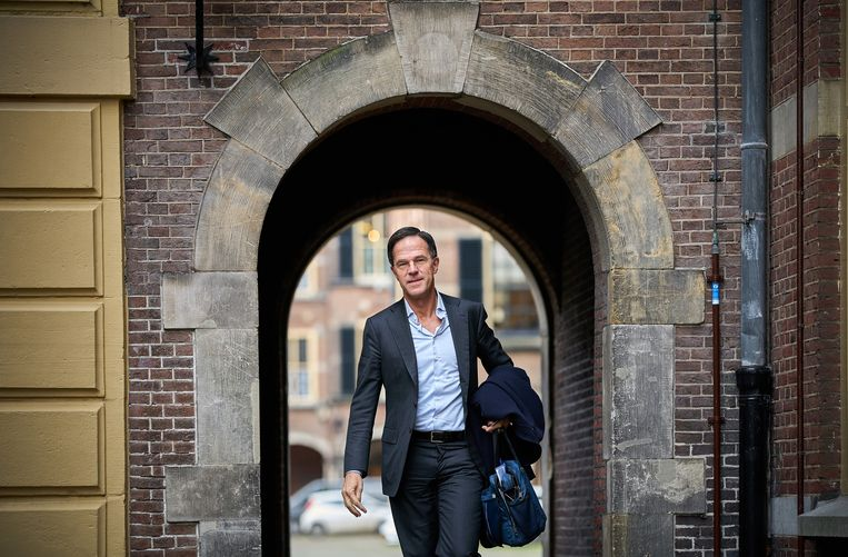 Premier Mark Rutte op het Binnenhof.  Beeld Hollandse Hoogte /  ANP - Phil Nijhuis