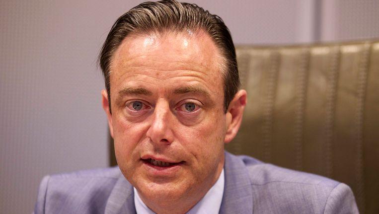 Bart De Wever vandaag tijdens een persconferentie in Brussel. Beeld BELGA