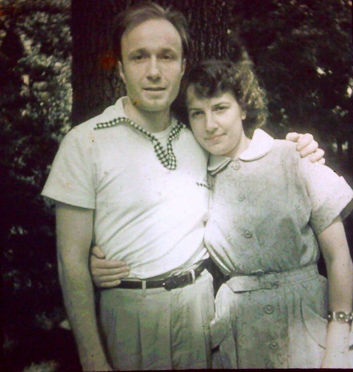 Met haar echtgenoot