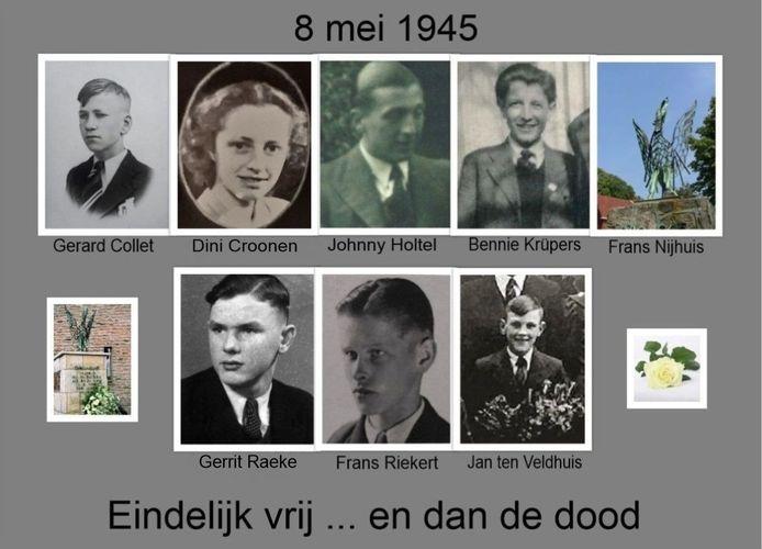 De slachtoffers van het drama dat zich kort na de oorlog afspeelde op de Groote Markt in Oldenzaal. Van Frans Nijhuis is nog geen foto beschikbaar.