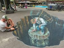 World Street Painting wordt eerste evenement in Arnhem sinds corona: 'Niets is onze tekenaars te gek'