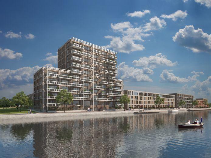 Zo moet het appartementencomplex in Havenkade in Dronten eruit komen te zien.