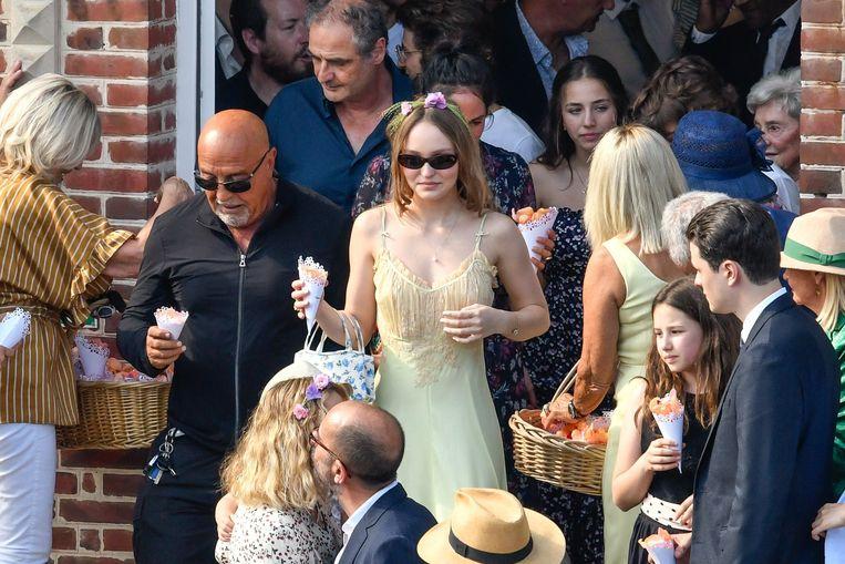Ook dochter Lily-Rose Depp, die Vanessa kreeg met Johnny Depp, was van de partij.