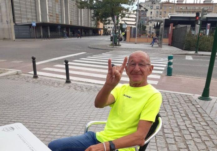 Pierre Geys, onderweg van Tenerife naar België