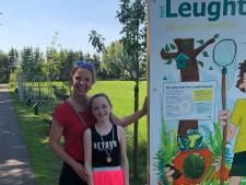 Educatief speelbos het Leughtenpad bij Renswoude geopend door kinderburgemeesters Lisa en Daantje