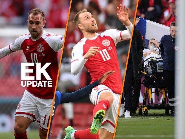 EK-update | Christian Eriksen stabiel en wil 'snel terugkeren'