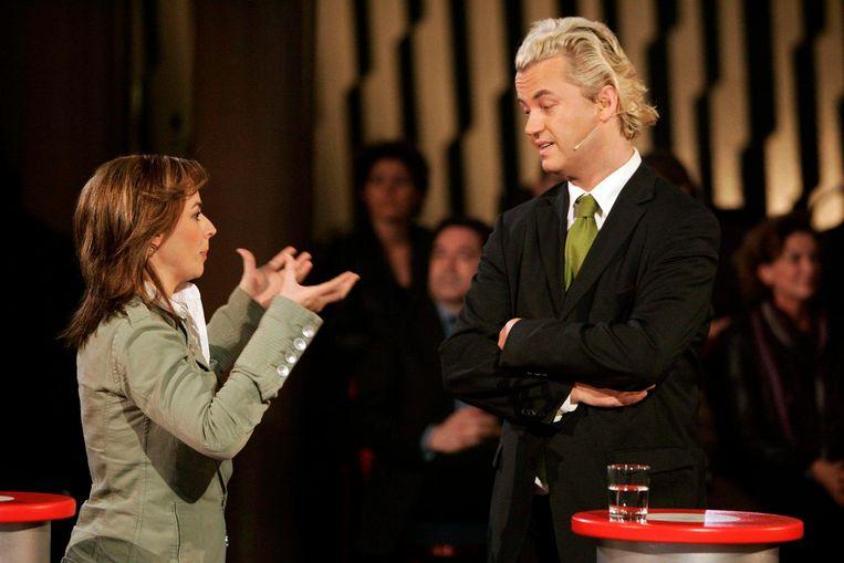 Marianne Thieme en Geert Wilders in 2006. Beeld ANP
