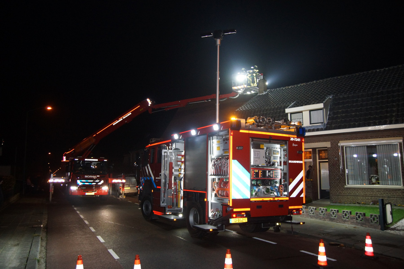 Aan de Heistraat woedde een schoorsteenbrand. De brandweer schoot te hulp.