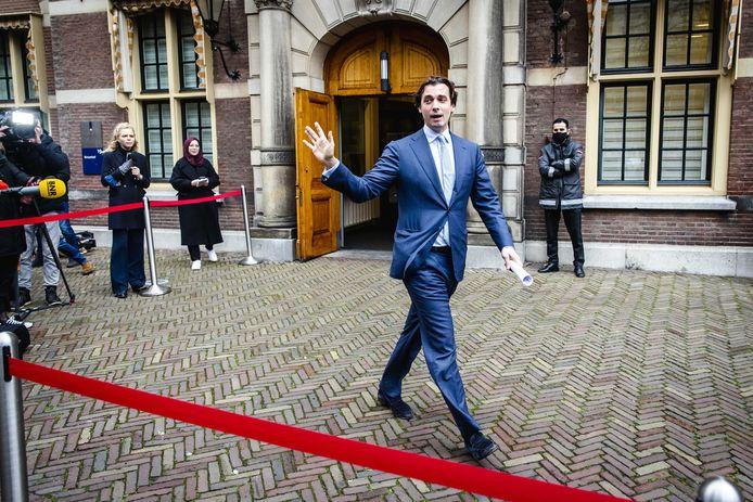 Thierry Baudet (Forum voor Democratie) op het Binnenhof.