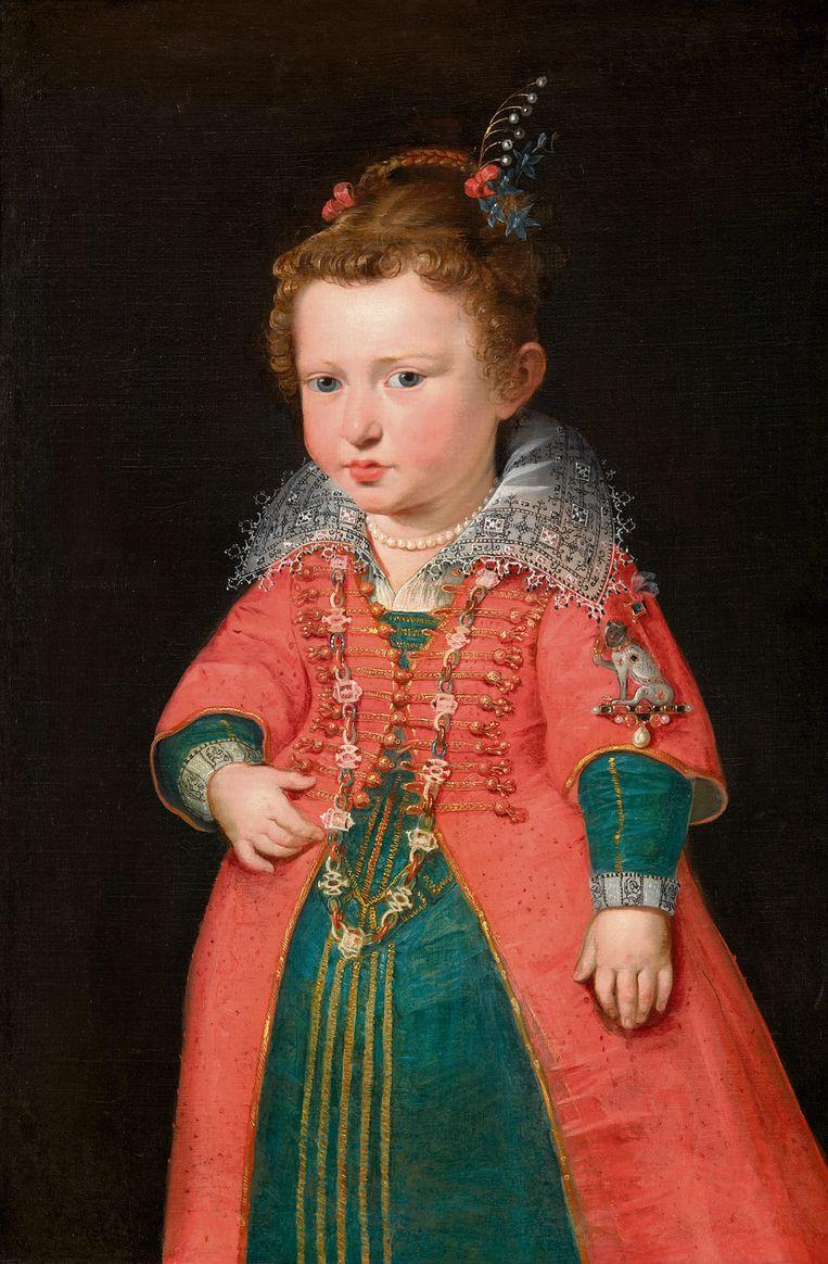 Peter Paul Rubens: Portret van de tweejarige Eleonora Gonzaga, 1600-01, Kunsthistorisches Museum Wenen Beeld -