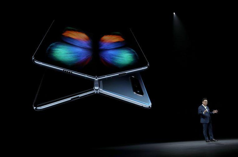 Wordt de Galaxy Fold een nieuw zorgenkindje voor Samsung? Beeld AFP