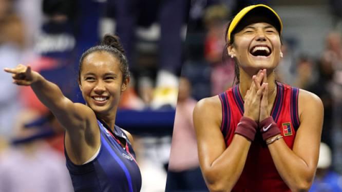 Geschiedenis op US Open: Fernandez en Raducanu zorgen voor eerste tienerfinale sinds 1999