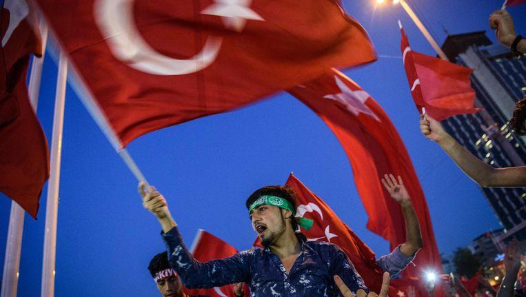 Het geweld tegen de gülenistische beweging na de mislukte staatsgreep, heeft nu ook zijn weg naar België gevonden. Beeld AFP