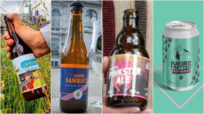 Vier lokale biertjes uit de Brusselse rand.