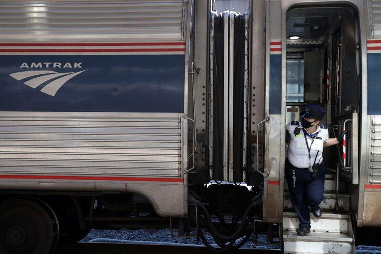 Een trein van Amtrak. Foto ter illustratie. Beeld Getty Images