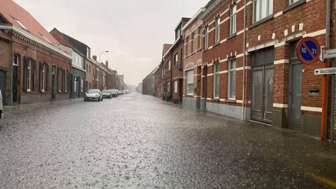 Opnieuw zware wateroverlast in Sint-Gillis-Waas: verschillende centrumstraten tijdlang blank