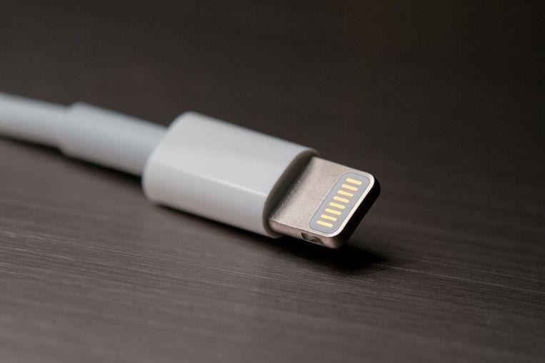De Lightning-aansluiting van Apple. Beeld Wikimedia