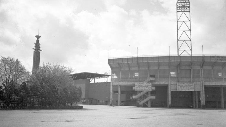 Beeld van het Olympisch Stadion. Het stadion is in 1927 ontworpen door JAN WILS en is gebouwd ter gelegenheid van de Olympische Zomerspelen van 1928. Beeld ANP