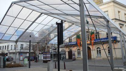 Tent voor carnaval staat al opgesteld op Oudstrijdersplein