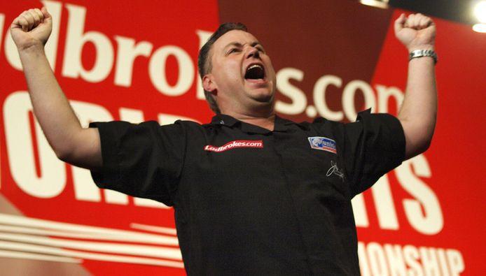 John Part viert zijn wereldtitel in 2008 bij de PDC.