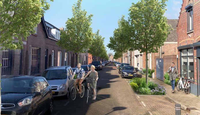 Ook de Voorstraat van Roosendaal kan een stuk groener worden volgens de nota Roosendaal Natuurstad.
