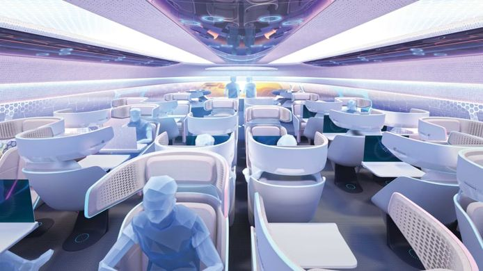 Vision de la cabine d'un Airbus.
