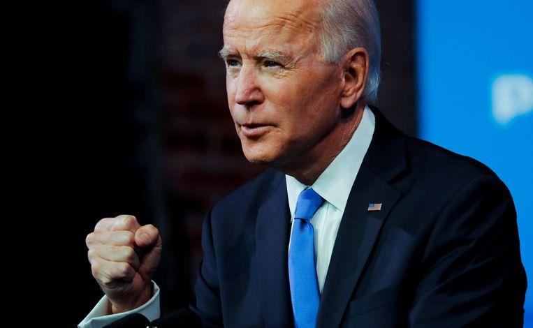 Joe Biden versloeg president Trump. Beeld REUTERS