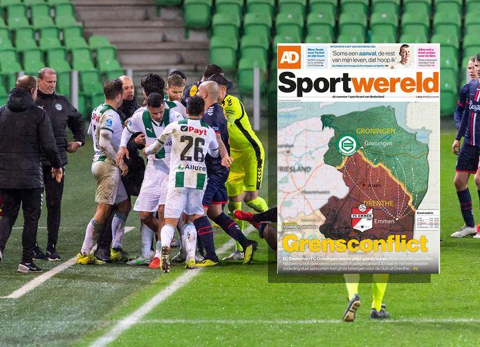 13 maart: het loopt in de slotfase uit de hand bij FC Groningen - FC Emmen met een (negatieve) hoofdrol voor Danny Buijs.