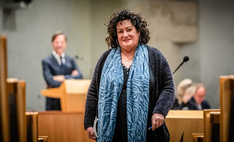 Caroline van der Plas (BBB) tijdens de Algemene Politieke Beschouwingen van 2021. Beeld ANP