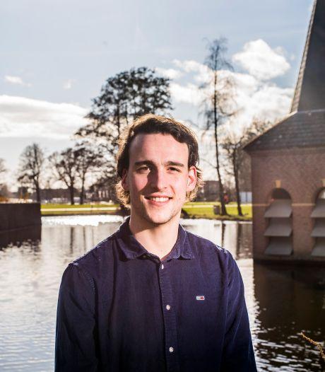 Timon Metz uit Enschede is minister-president van het eerste Nederlandse studentenkabinet