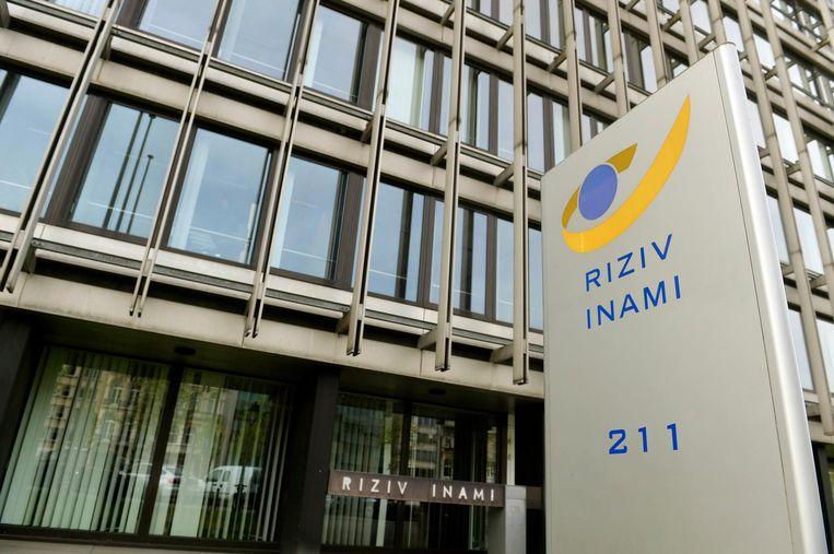 Zetel van Riziv in Brussel. Beeld photo_news