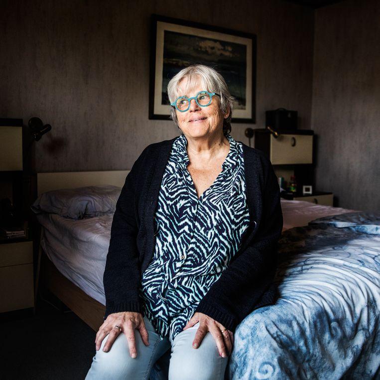 Margriet Stollman: 'Vooral geestelijk ben ik nog niet de oude.'  Beeld Aurélie Geurts