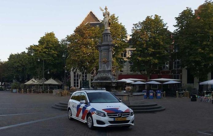 Op de Brink in Deventer ontstond een vechtpartij.