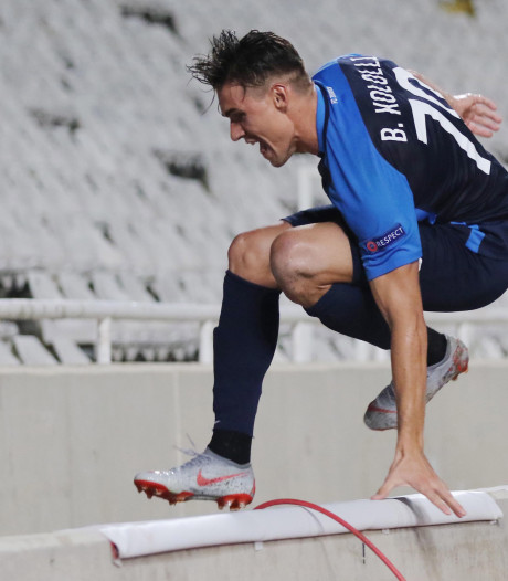 Zürich-speler komt goed weg na sprong in stadiongracht