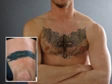 Ferry Meijdam over zijn tatoeages: 'Naam van ons tweede kindje komt er straks bij'