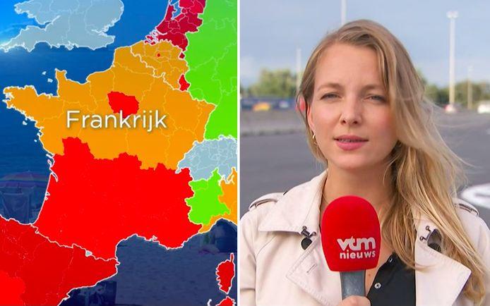 Het zuiden van Frankrijk kleurt helemaal rood en dat heeft gevolgen voor terugkerende toeristen.