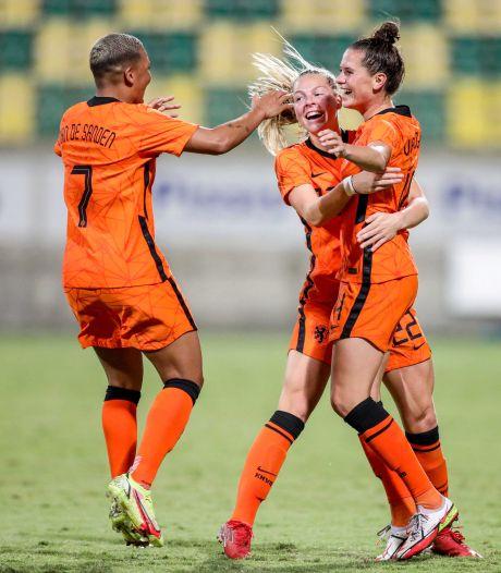 Jill Baijings uit Terheijden debuteert voor Leeuwinnen en wint 'irritante wedstrijd' op Cyprus