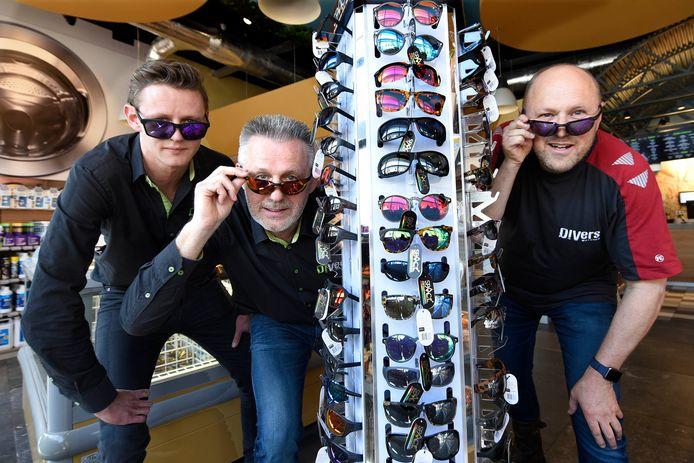 Manager Kevin Sorber en de eigenaren Henk van Os en Ab Benschop van DiVers.