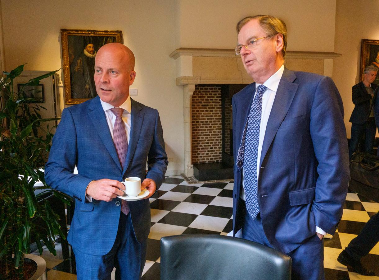 Staatssecretaris Raymond Knops in Middelburg met speciaal adviseur Bernard Wientjes