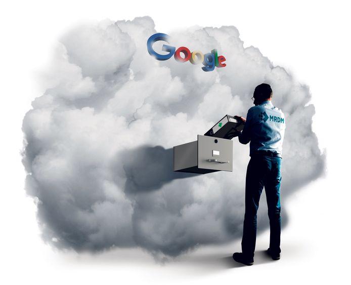 De data van honderdduizenden patiënten wordt inmiddels opgeslagen in de Google cloud.