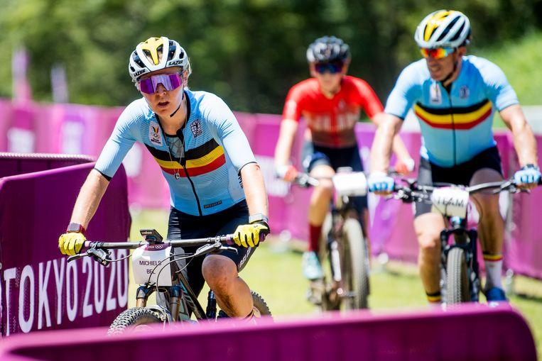 Githa Michiels treedt straks aan in de olympische mountainbikerace bij de vrouwen. Beeld BELGA