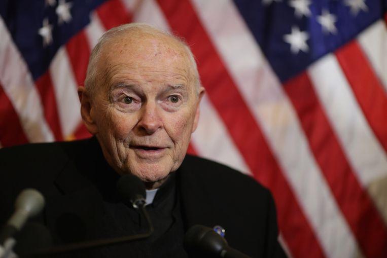 Kardinaal Theodore McCarrick Beeld AFP
