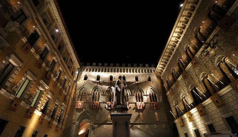 Het hoofdkwartier van Monte dei Paschi in Sienna. Beeld REUTERS