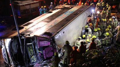 Ongeval met dubbeldekker in Hongkong: 19 doden en 60 gewonden, chauffeur opgepakt