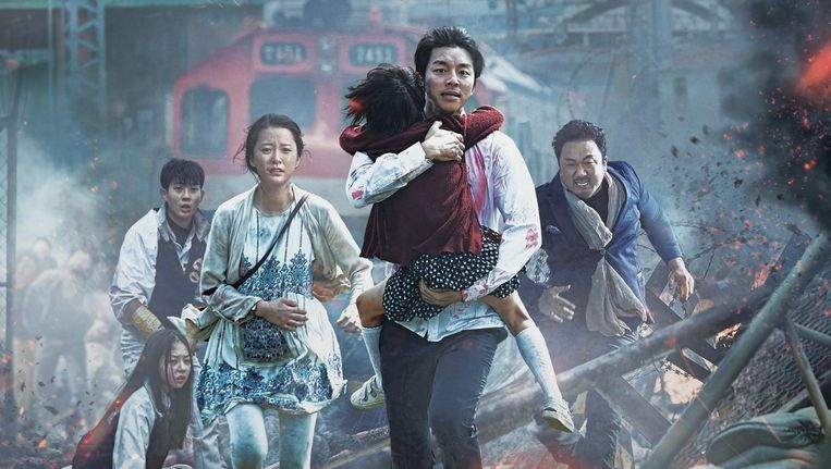 Scène uit de Zuid-Koreaanse zombiefilm 'Train to Busan'. Beeld