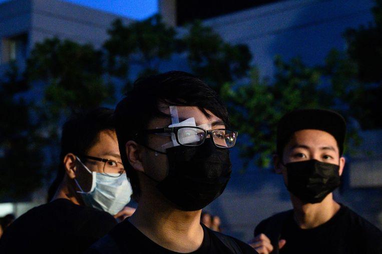 Demonstranten maandag in Hong Kong. Beeld AFP