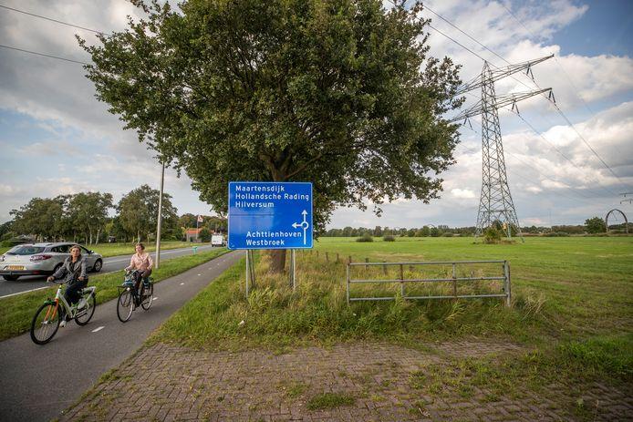 Voorlopig geen zonnepark in dit weiland in Maartensdijk.