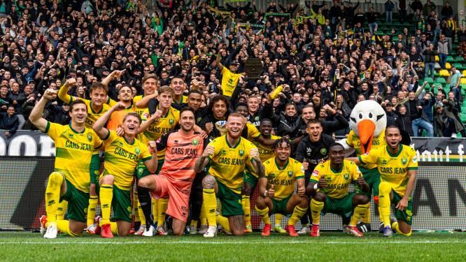 Pesterig gezang van fans FC Den Bosch richting ADO, waar faillissement dichterbij is dan ooit