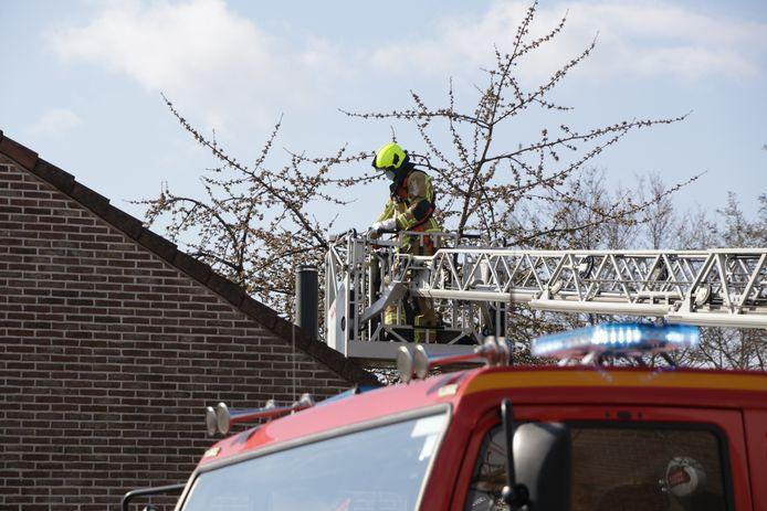 De brandweer van Kruibeke in actie.