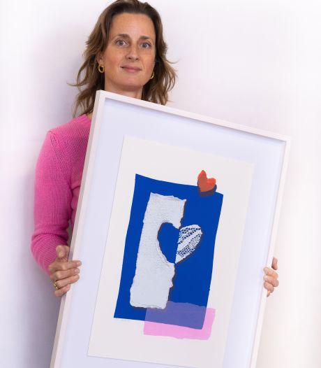Kunstenares Kiki van Eijk biedt Eva Jinek kunstwerk over zwangerschapsvergiftiging aan: 'Ik wist meteen, dit is niet goed'